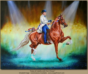 Duke of Crebilly w/Terri Preiser, American Saddlebred