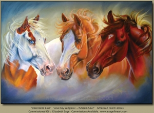 Bella, Zip, Zen, Paint Horses